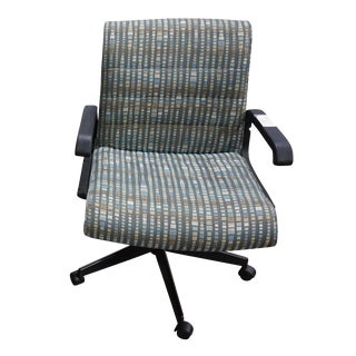 Blue & Green Checkered Knoll Sapper Task Chair