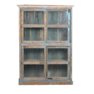 Colonial Glass Paned Bookcase