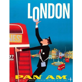 Vintage Reproduction Blue London Travel Poster
