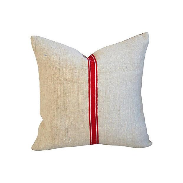 Image of Red Stripe Textile & Linen Pillows - Set of 3