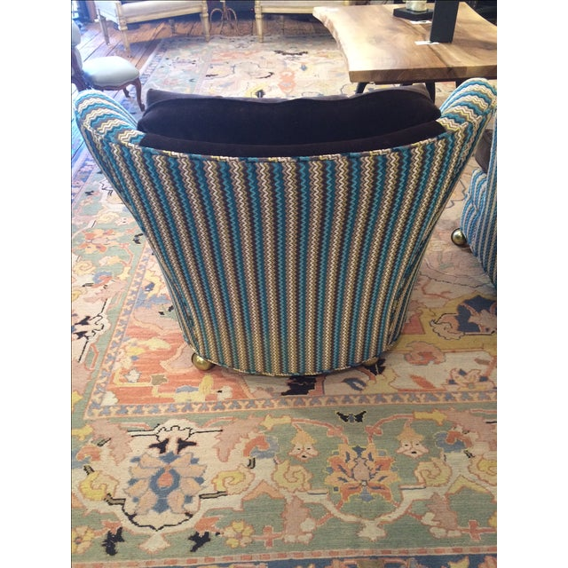 Vintage Reupholstered Club Chairs - A Pair - Image 4 of 9