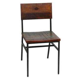 Reclaimed Wood & Iron Side Chair