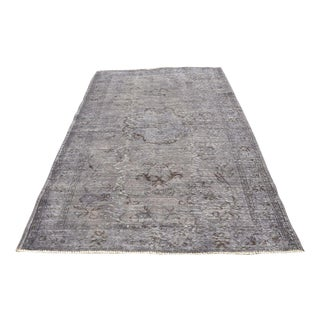 Vintage Overdyed Gray Rug - 5′1″ × 7′7″