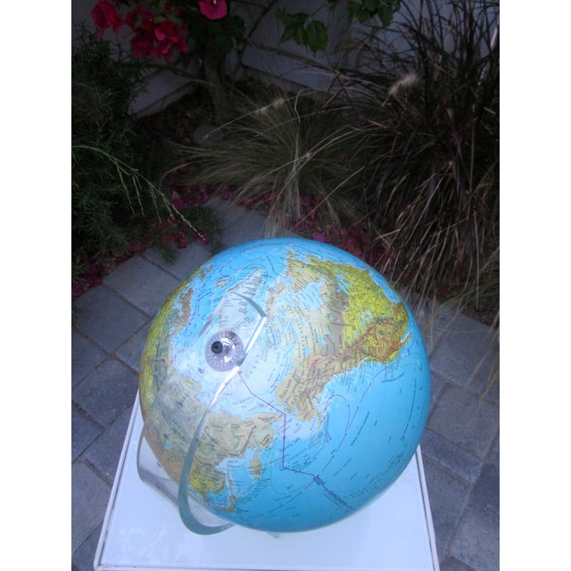 Vintage Globe with Thick Lucite Base - Image 7 of 9