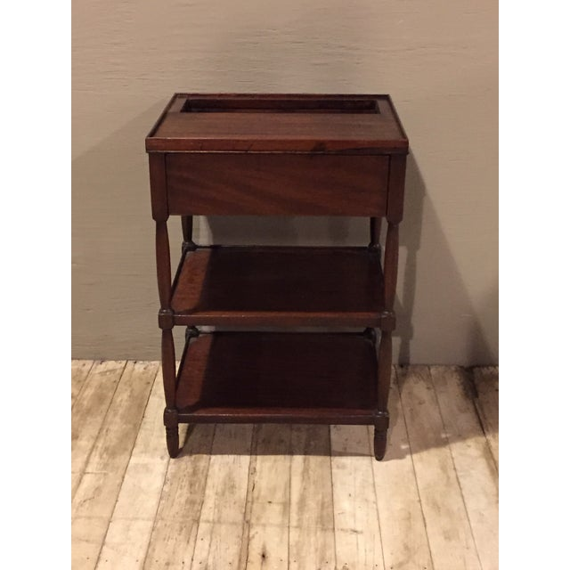 Antique 1900s Tiered Mahogany Table with Basin - Image 3 of 10
