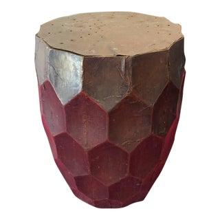 Gold Moroccan Drum Stool Garden Seat
