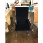 Image of Set of Eight Milo Baughman Chrome and Cane Back Dining Chairs