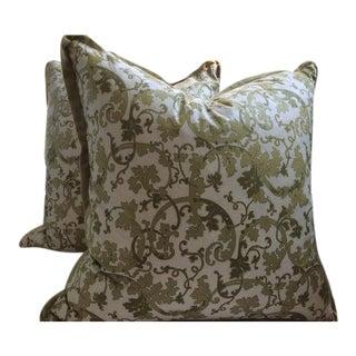 Gp & J Baker Pillow Covers in English Chintz Vine & Velvet - a Pair