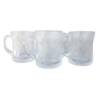 Glass Lotus Blossom Coffee Mugs - Set of 6