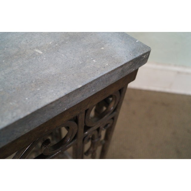 Iron Gothic Style Slate Top Console Table - Image 7 of 10