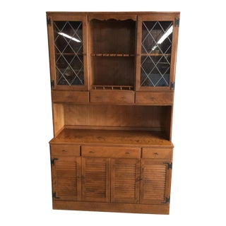 Ethan Allen Mid-Century Modern Colonial China Cabinet
