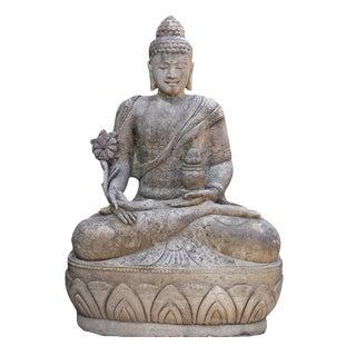 Sitting Stone Medicine Buddha