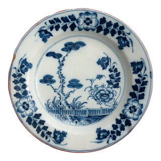 18th-C Delft Faience Chinoiserie Plate