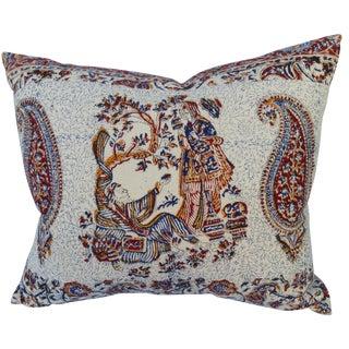 Persian Hand-Blocked Linen Pillow