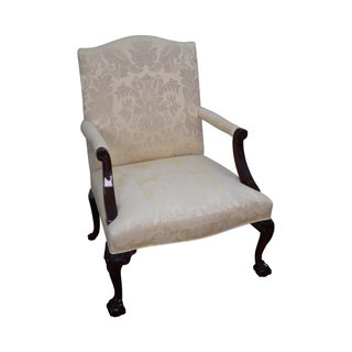 Kindel Mahogany Chippendale Style Library Arm Chair