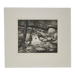 """Merced River"" Signed Etching"