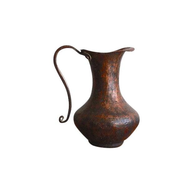 Image of Hammed Solid Copper Ewer