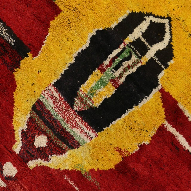 Image of Moroccan Contemporary Abstract Design Berber Rug - 8′8″ × 11′2″