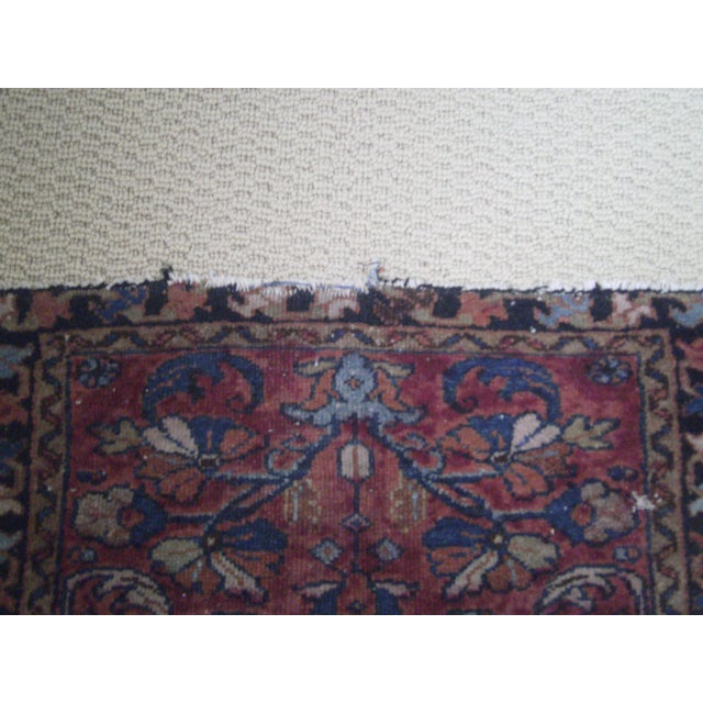Small Traditional 1900s Red Blue Rug - 2'' x 2'' - Image 4 of 8