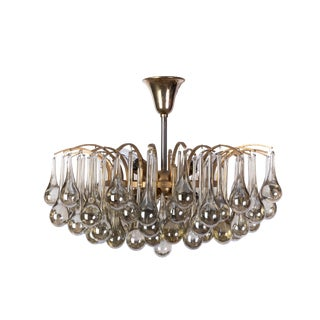 Exceptional Mid-Century Crystal Chandelier By Christoph Palme
