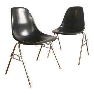 Vintage Herman Miller Eames Fiberglass Shell Chairs - A Pair