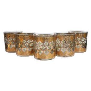 Mid-Century Culver Low Ball Glasses - Set of 5