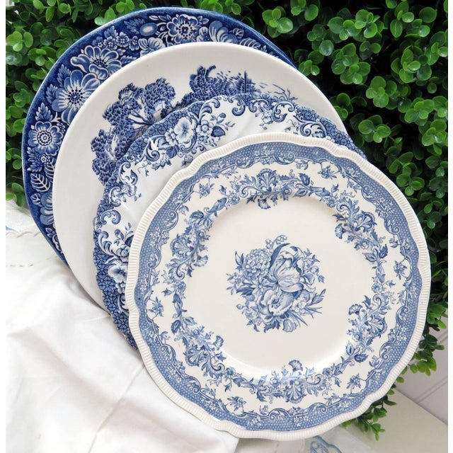 Vintage Mismatched Ironstone Dinner Plates - Set of 4 - Image 2 of 11