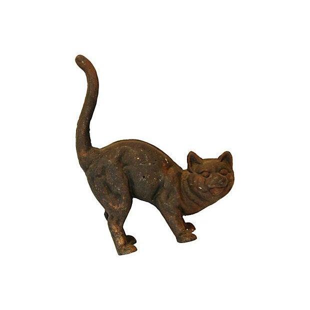 Vintage Cast Iron Cat Doorstop - Image 6 of 7