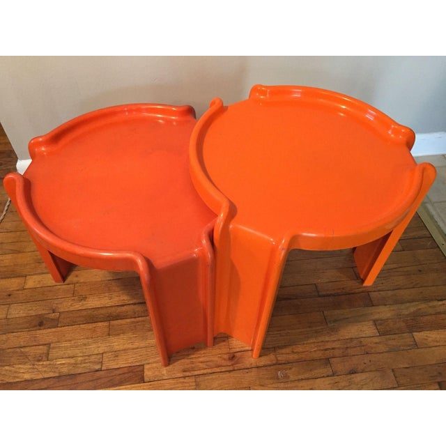 Kartell Orange Stacking Tables - A Pair - Image 4 of 6