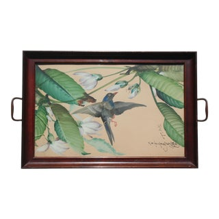 Hand-Painted Bird Tray