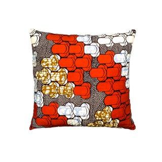 Mid Century African Dutch Wax Pillows - a Pair