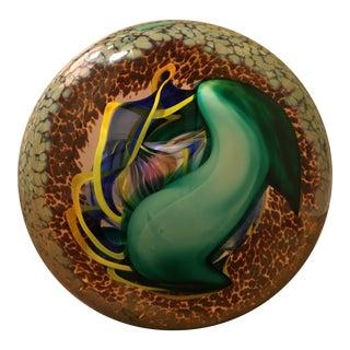 Rick Beck Art Glass Disc Paperweight
