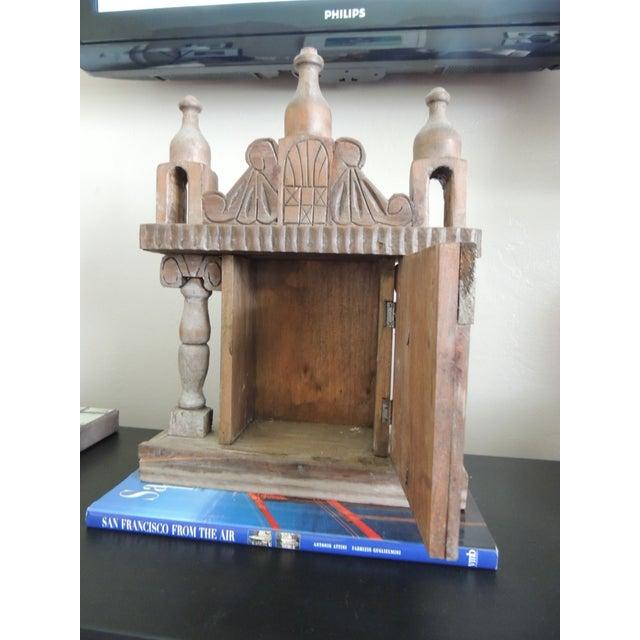 Vintage Wood Indian Hand-Carved Shrine - Image 3 of 5