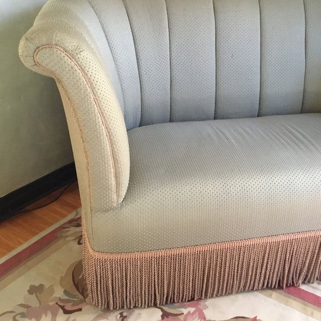 Image of French Style Settee With Fringe