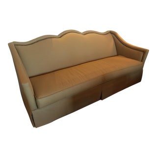 C.R. Laine Wool Sofa with Nailhead Detail