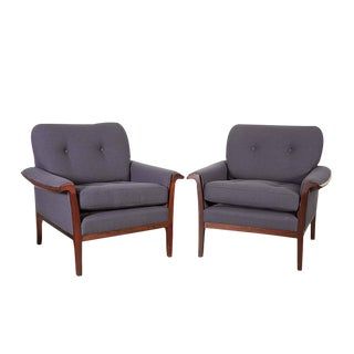Danish Modern Club Chairs by Torbjorn Afdal, Pair