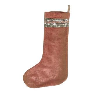 Vintage Velvet Stocking