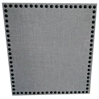 Gray Linen & Nail Heads Spaced Cork Board