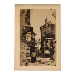 1910 Robert Levy-Lenard Original Etching - Verona