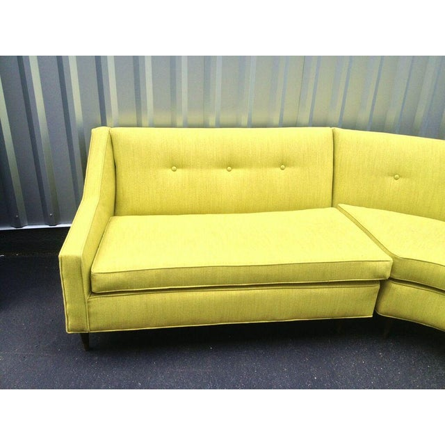 Image of Mid-Century Modern Yellow Sectional