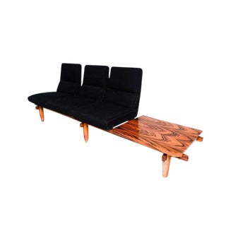 Mexican Modernist Three Seater Sofa And Table Bench After Clara Porset
