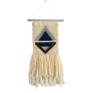 Woven Geometric Triangle Wall Hanging/Textile