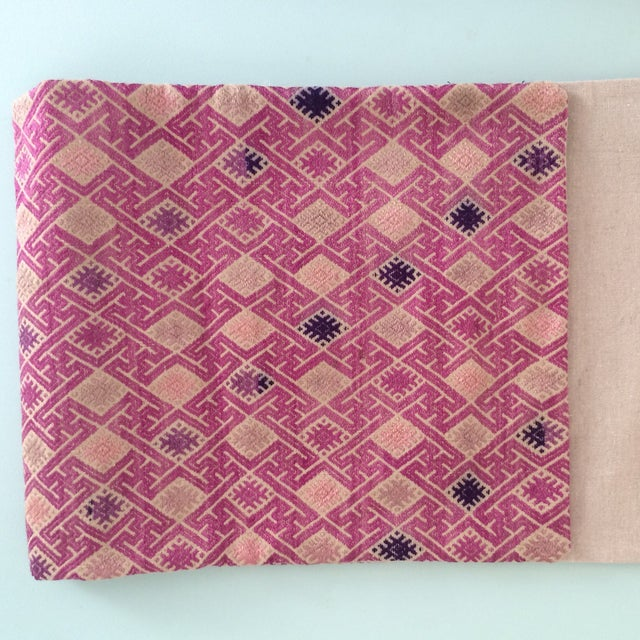 Vintage Embroidered Lumbar Pillow Cover - Image 6 of 6