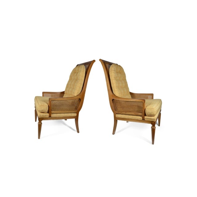 Mid-Century Cane Club Chairs - Pair - Image 6 of 6
