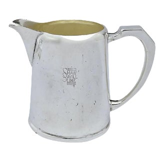 Art Deco Shaw Savill Stemship Line 1 Pint Milk Jug