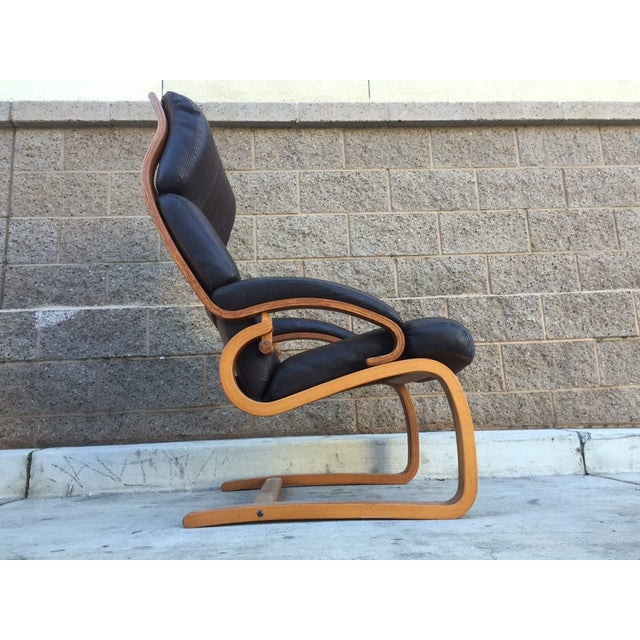 Norwegian Leather Tension Chair - Image 2 of 4