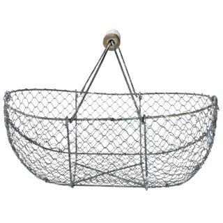 Vintage French Oyster Gathering Basket