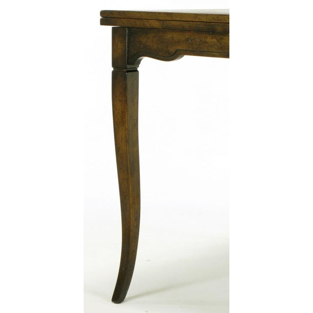 Old Colony Furniture Walnut Flip Top Games Table - Image 8 of 10