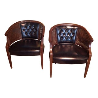 Mid-Century Barrel Chairs - A Pair