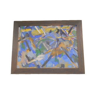 Raymond Abner MCM Abstract Oil Painting